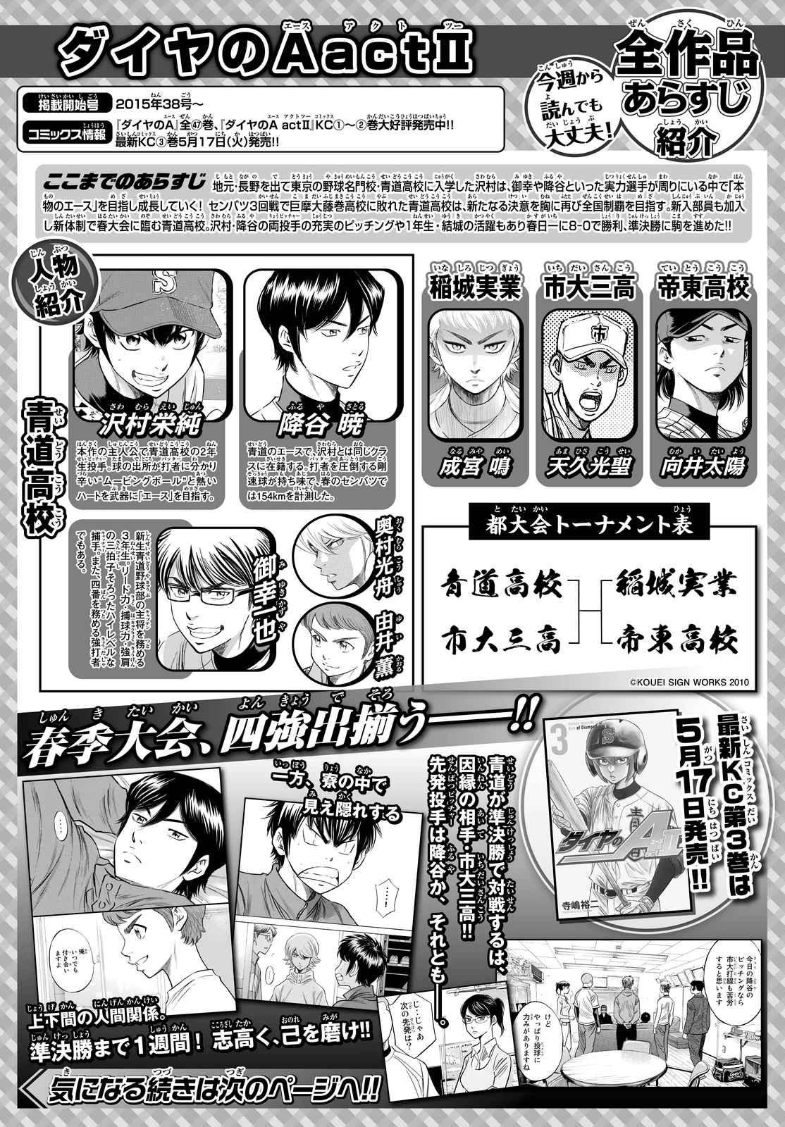 Daiya no A Act II - Chapter 032 - Page 1