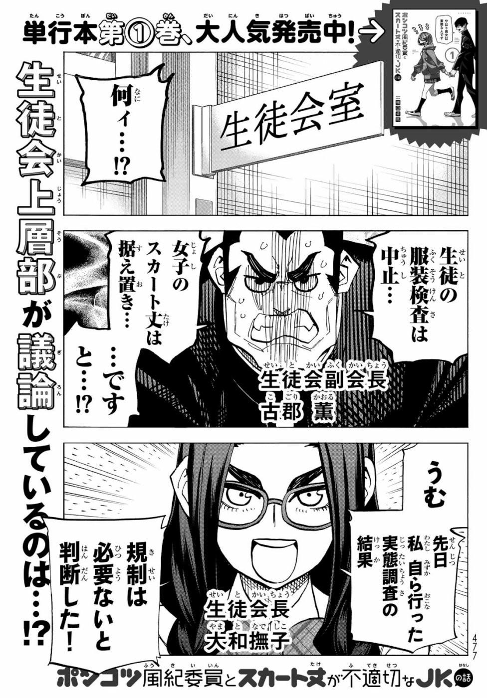 Ponkotsu-Fuukiin-to-Skirt-Take-ga-Futekisetsu-na-JK-no-Hanashi - Chapter 008 - Page 1